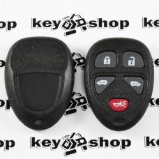 Корпус пульта для Cadillac (Кадиллак), 4 + 1 (panica) кнопки
