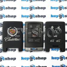 Чехол на смарт ключ Cadillac (Кадиллак), (черный, силиконовый) 6 кнопок