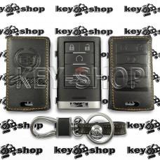 Чехол (кожаный) смарт ключа Cadillac (Кадиллак) 5 кнопок