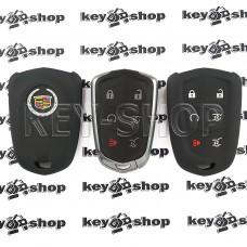 Чехол (черный, силиконовый) для смарт ключа Cadillac (Кадиллак) 5 кнопки + 1