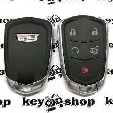 Оригинальный корпус смарт ключа Cadillak (Кадиллак) 4 + 1 кнопки