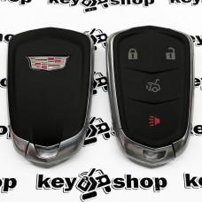Оригинальный корпус смарт ключа Cadillak (Кадиллак) 3 + 1 кнопки