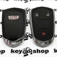 Оригинальный корпус смарт ключа Cadillak (Кадиллак) 2 + 1 кнопки
