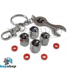 Набор колпачков для ниппеля (хромированные) с логотипом BMW М (БМВ М)