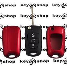 Чехол (красный, пластиковый) для выкидного ключа KIA (КИА)