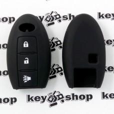 Чехол (черный, силиконовый) для смарт ключа Infiniti (Инфинити) 3 кнопки