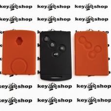 Чехол (оранжевый, силиконовый) для смарт карты RENAULT (Рено) 4 кнопки