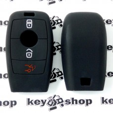 Чехол (силиконовый) для смарт ключа Мерседес (Mercedes) 3 кнопки