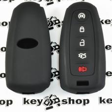 Чехол (черный, силиконовый) для смарт ключа Ford (Форд) 4+1 кнопки