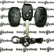 Чехол (кожаный) для авто ключа Honda (Хонда) 2 кнопки