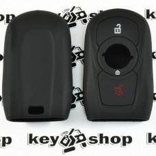 Чехол (черный, силиконовый) для смарт ключа Opel (Опель) 3 кнопки