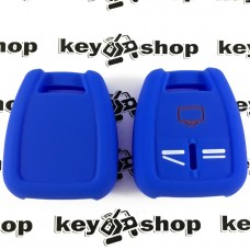 Чехол (синий, силиконовый) для авто ключа Opel (Опель) 3 кнопки