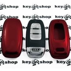 Чехол (красный, пластиковый) для смарт ключа Audi (Ауди)