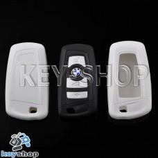 Чехол (белый, пластиковый) для смарт ключа BMW (БМВ)
