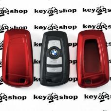 Чехол (красный, пластиковый) для смарт ключа BMW (БМВ)