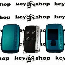 Чехол (синий, пластиковый) для смарт ключа LAND ROVER (Ленд Ровер)
