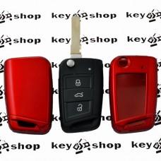 Чехол (красный, пластиковый) для выкидного ключа Seat (Сеат)