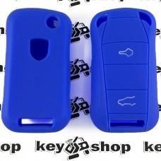 Чехол (черный, силиконовый) для выкидного ключа Porsche (Порше) 2, 3 кнопки
