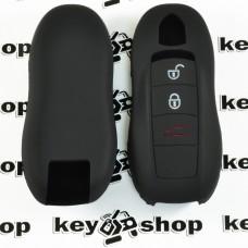 Чехол (черный, силиконовый) для смарт ключа Porsche (Порше) 3, 4 кнопки