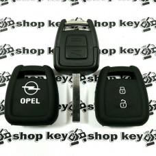 Чехол (силиконовый) для авто ключа Opel (Опель) 2 кнопки