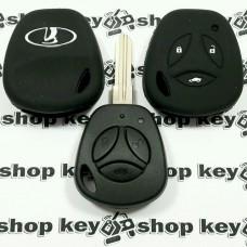 Чехол (черный, силиконовый) для авто ключа Vaz (Ваз) 3 кнопки