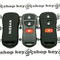 Чехол (черный, силиконовый) для пульта Nissan (Ниссан) 3 кнопки