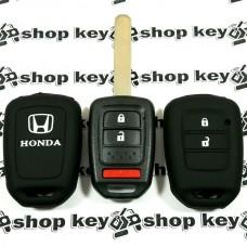 Чехол (силиконовый) для автоключа Honda (Хонда) 2 кнопки + 1