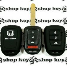 Чехол (силиконовый) для автоключа Honda (Хонда) 3 кнопки + 1