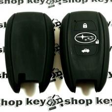 Чехол (силиконовый) для авто ключа Subaru (Субару) 3 кнопки