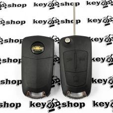 Выкидной ключ для Chevrolet Captiva 2010 - 2012гг (Шевроле Каптива) 3 кнопки, ID46 / 433 MHZ, лезвие DWO5
