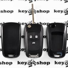 Чехол (черный, пластиковый) для выкидного ключа Chevrolet (Шевролет) 3 кнопки