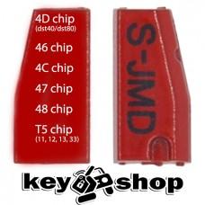 JMD Super chip включает в себя 12 видов чипов (46, 47, 48, 4С, 4D (40/80bit), 72G, 83, 11, 12, 13, 33)