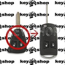 Корпус выкидного ключа для Chrysler (Крайслер) 2 кнопки (тип 2) под переделку
