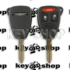 Корпус автоключа для Chrysler ( Крайслер) 2 + 1 кнопки (тип 2)