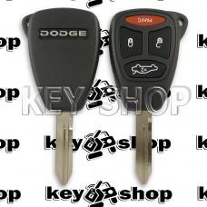 Корпус автоключа для Dodge (Джип) 3 + 1 кнопки