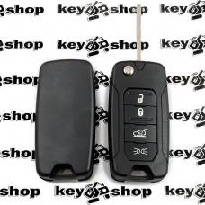 Корпус выкидного ключа для Dodge (Додж) лезвие SIP 22, 4 кнопки