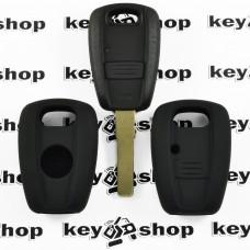 Чехол (черный, силиконовый) для авто ключей Fiat (Фиат) 1 кнопка