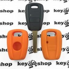 Чехол (оранжевый, силиконовый) для авто ключей Fiat (Фиат) 1 кнопка