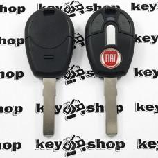 Корпус авто ключа под чип для Fiat (Фиат), 2 кнопки,  с лезвием SIP22