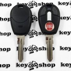 Корпус авто ключа под чип для Fiat (Фиат), 2 кнопки с лезвием GT15