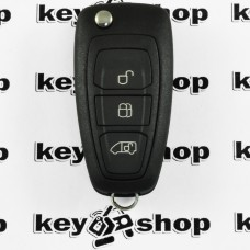Оригинальный выкидной ключ для FORD Transit, Transit Custom(Форд Транзит, Транзит Кастом),3 кнопки, с чипом ID 4D63 6F, 433MHz
