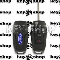 Выкидной ключ Ford Fusion (Форд Фьюжн) 3 + 1 кнопка, чип ID49 (HITAG Pro) 315Mhz