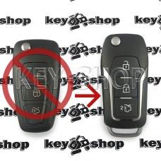 Корпус выкидного ключа FORD (Форд) 3 кнопки, лезвие HU100 (под переделку)