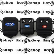 Чехол (черный, силиконовый) для пульта центрального замка Ford (Форд) 2 + 1 кнопки