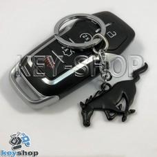 Металлический  (черный) брелок для авто ключей Ford Mustang (Форд Мустанг)