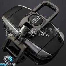 Брелок для ключа Ford Mustang (Форд Мустанг), (темный хром), с карабином