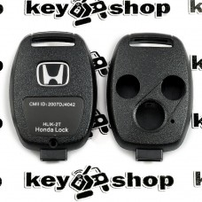 Корпус автоключа для Honda (Хонда) 3 кнопки , без лезвия (под установку родного)