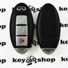 Оригинальный ключ Infiniti FX35 (2009-2013), FX50 (2009-2013), EX35 (2008-2012), QX50 (2014-2017), EX37 (2013) (Инфинити) 2 + 1 кнопки, чип ID46, PCF 7952, FCC ID: KR55WK49622, 315 MHz