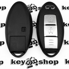 Корпус смарт ключа Infinity (Инфинити) 2 кнопки, (с лезвием)