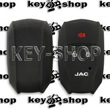 Чехол (черный, силиконовый) для смарт ключа Jaс (Джак) 2 + 1 кнопок